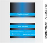 business card dark blue vector | Shutterstock .eps vector #738351340