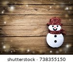 christmas decoration on the... | Shutterstock . vector #738355150