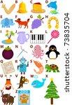 vector of cartoons alphabet a... | Shutterstock .eps vector #73835704