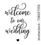script word art text wedding... | Shutterstock .eps vector #738357553