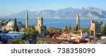 panoramic view of antalya...   Shutterstock . vector #738358090