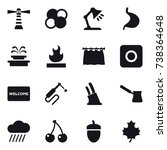 16 vector icon set   lighthouse ... | Shutterstock .eps vector #738364648