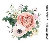 floral card vector design ... | Shutterstock .eps vector #738375889