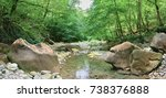 mountain river in the forest | Shutterstock . vector #738376888