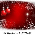 festive christmas red... | Shutterstock .eps vector #738377410