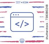code editor icon | Shutterstock .eps vector #738380248