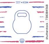 kettlebell line icon | Shutterstock .eps vector #738384568