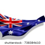australia flag of silk with... | Shutterstock . vector #738384610