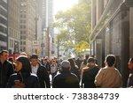 new york  usa  november 1  2016 ... | Shutterstock . vector #738384739