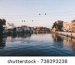 indian architecture in udaipur... | Shutterstock . vector #738393238