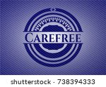carefree jean background | Shutterstock .eps vector #738394333