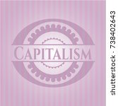 capitalism retro style pink... | Shutterstock .eps vector #738402643