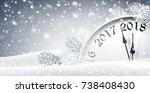 new year's eve 2018. vector... | Shutterstock .eps vector #738408430