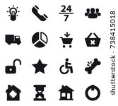 16 vector icon set   bulb ...
