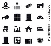 16 vector icon set   pointer ... | Shutterstock .eps vector #738421900