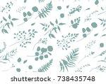 seamless pattern of eucalyptus...   Shutterstock .eps vector #738435748