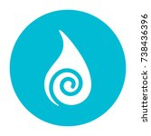 abstract water symbol on circle | Shutterstock .eps vector #738436396