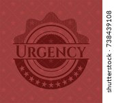 urgency realistic red emblem | Shutterstock .eps vector #738439108