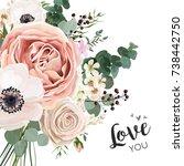 floral card vector elegant... | Shutterstock .eps vector #738442750