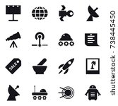 16 vector icon set   billboard  ... | Shutterstock .eps vector #738445450