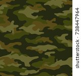 camouflage seamless pattern | Shutterstock .eps vector #738447964