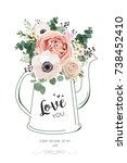 floral elegant card vector... | Shutterstock .eps vector #738452410