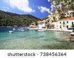 the small village of assos... | Shutterstock . vector #738456364