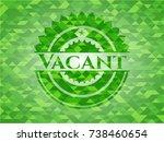 vacant green emblem. mosaic... | Shutterstock .eps vector #738460654