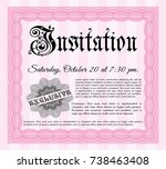 pink formal invitation. with...   Shutterstock .eps vector #738463408