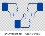 like and dislike icon. thumbs... | Shutterstock .eps vector #738464488
