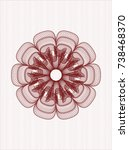 red abstract linear rosette | Shutterstock .eps vector #738468370