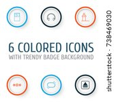 audio icons set. collection of... | Shutterstock .eps vector #738469030