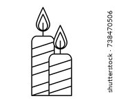 merry christmas candles... | Shutterstock .eps vector #738470506