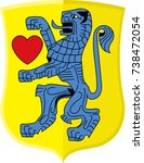 coat of arms of celle is a... | Shutterstock .eps vector #738472054