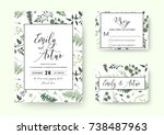 wedding invite  invitation rsvp ... | Shutterstock .eps vector #738487963