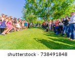 irvine  usa   may 22  2011 ... | Shutterstock . vector #738491848