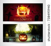 halloween. | Shutterstock .eps vector #738495940