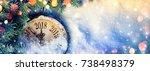 new year 2018   celebration... | Shutterstock . vector #738498379