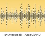 vector sound wave. colorful... | Shutterstock .eps vector #738506440