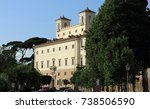 view of the villa medici in... | Shutterstock . vector #738506590