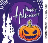 halloween greeting card and... | Shutterstock .eps vector #738507730
