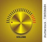 gold volume button  music knob