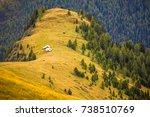ciampac ski area  val di fassa  ... | Shutterstock . vector #738510769