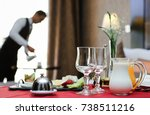 Stock photo breakfast room service hotel 738511216