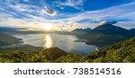 sunrise in the morning at lake... | Shutterstock . vector #738514516
