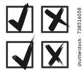check box list icons set  black ... | Shutterstock .eps vector #738516058