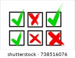 check box list icons set ... | Shutterstock .eps vector #738516076
