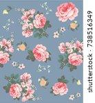 floral pattern | Shutterstock .eps vector #738516349
