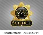 shiny emblem with bike icon... | Shutterstock .eps vector #738516844