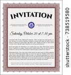 red formal invitation. easy to...